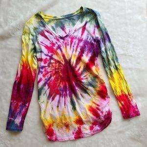 Isabel Maternity Rainbow Baby Tie Dye shirt